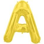 حرف A ذهبي صغير